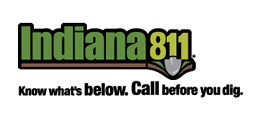 Indiana 811 Know what's below. Call before you dig.