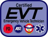 Certified EVT - Emergency Vehicle Technician - Emergency Program Logos