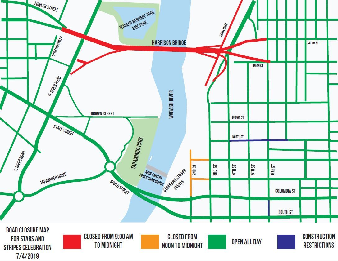 Road Closures - 2019 Stars and Stripes Event Opens in new window